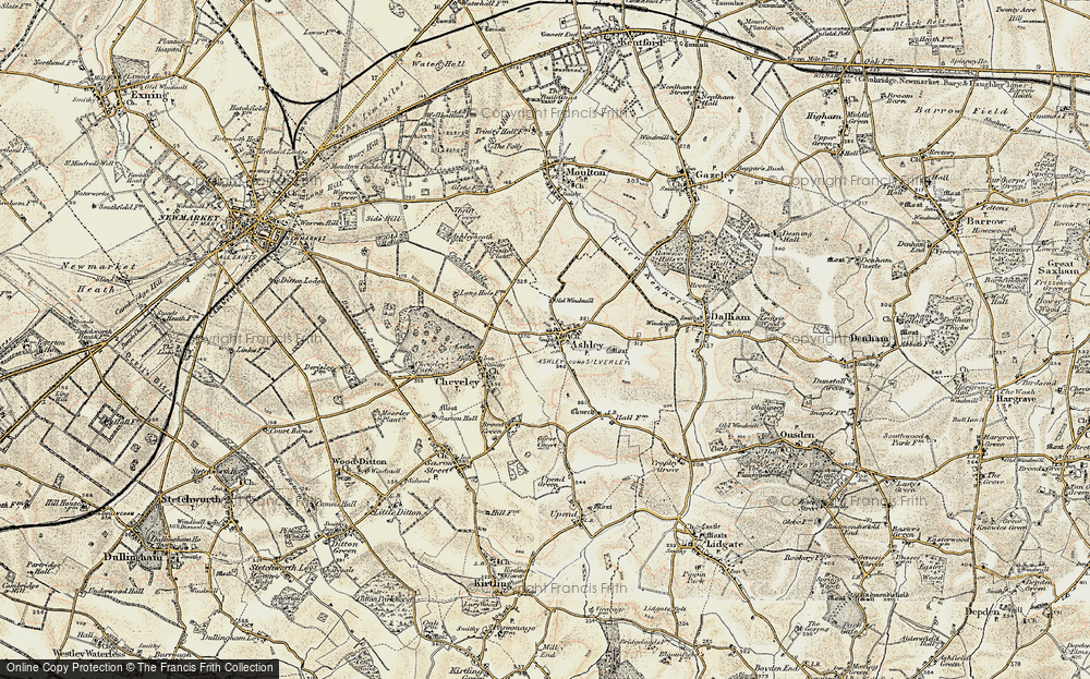 Old Map of Ashley, 1899-1901 in 1899-1901