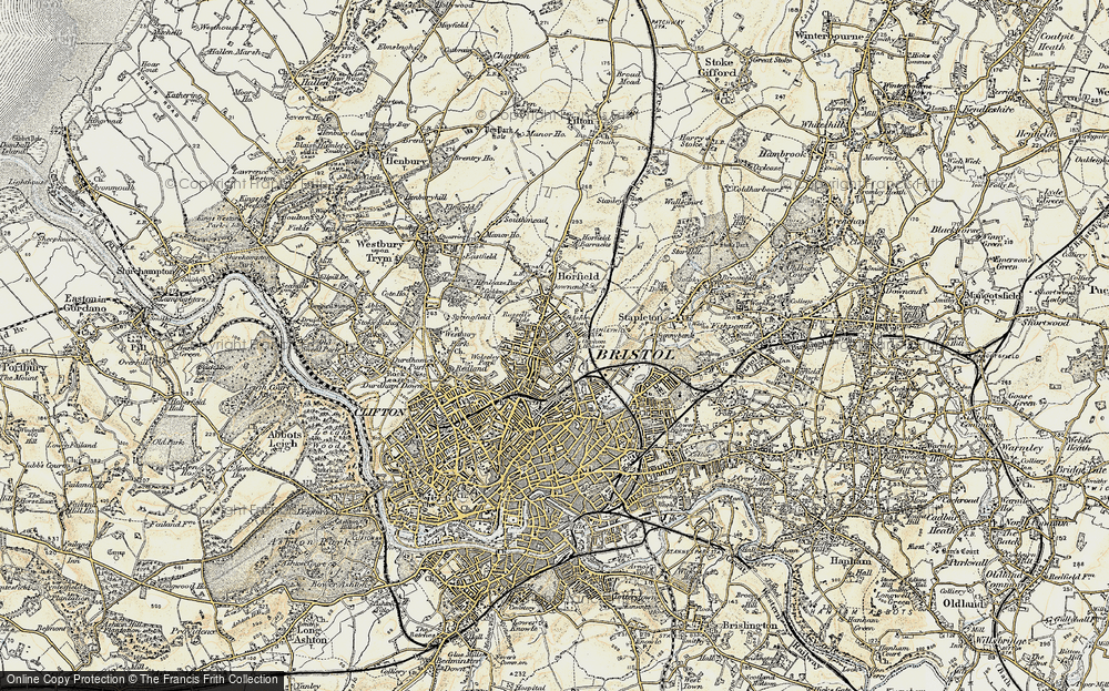 Old Map of Ashley Down, 1899 in 1899