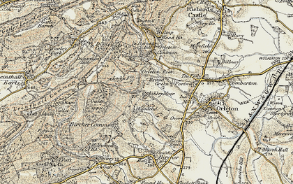 Old map of Ashley Moor in 1901-1903