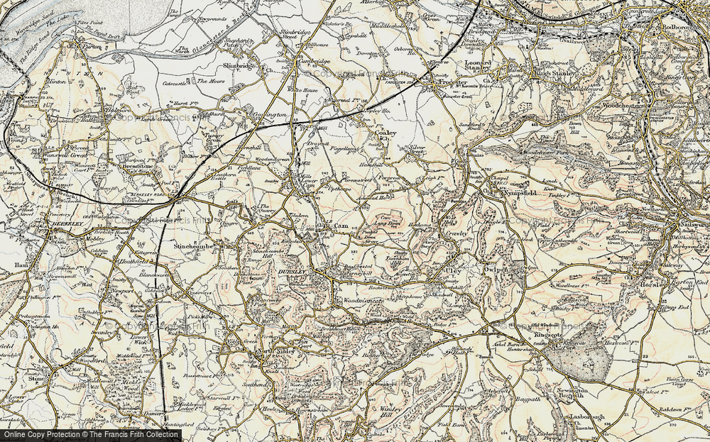 Old Map of Ashmead Green, 1898-1900 in 1898-1900
