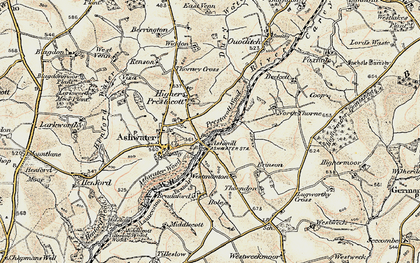 Old map of Ashmill in 1900