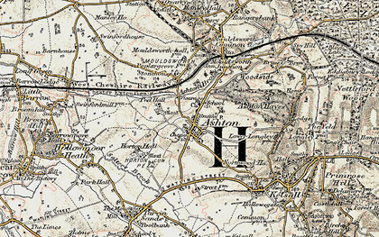 Old map of Ashton Brook in 1902-1903
