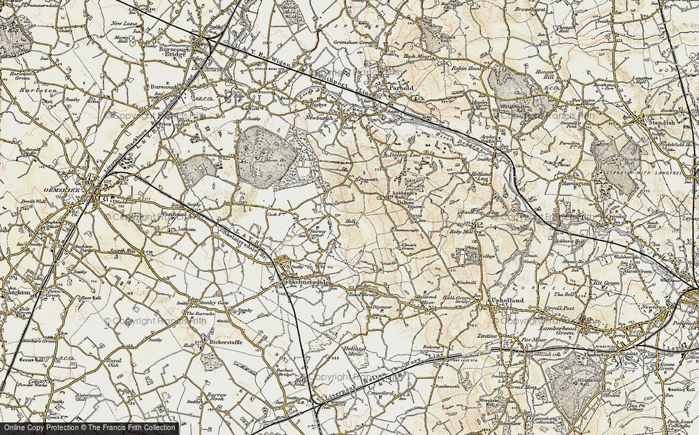 Old Map of Ashurst, 1902-1903 in 1902-1903