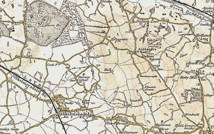 Old map of Ashurst in 1902-1903