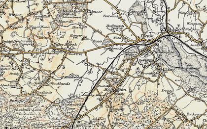 Old map of Ashurst Bridge in 1897-1909