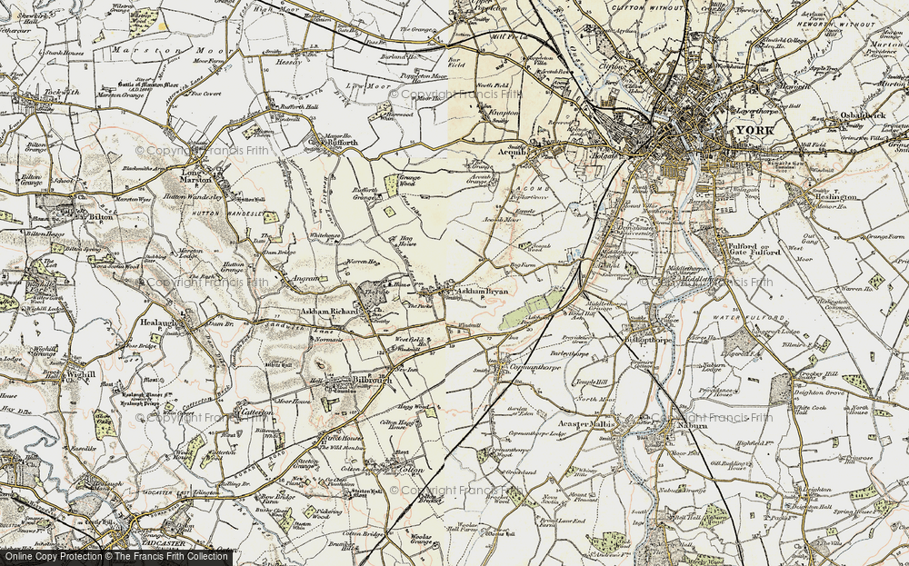 Old Map of Askham Bryan, 1903 in 1903