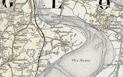 Old map of Awre in 1899-1900