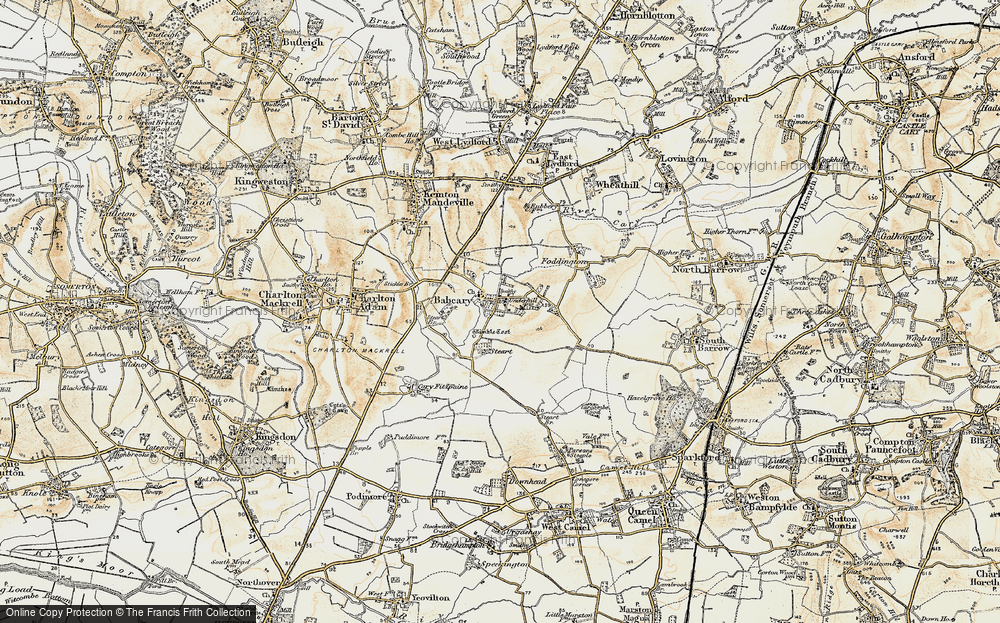 Old Map of Babcary, 1899 in 1899
