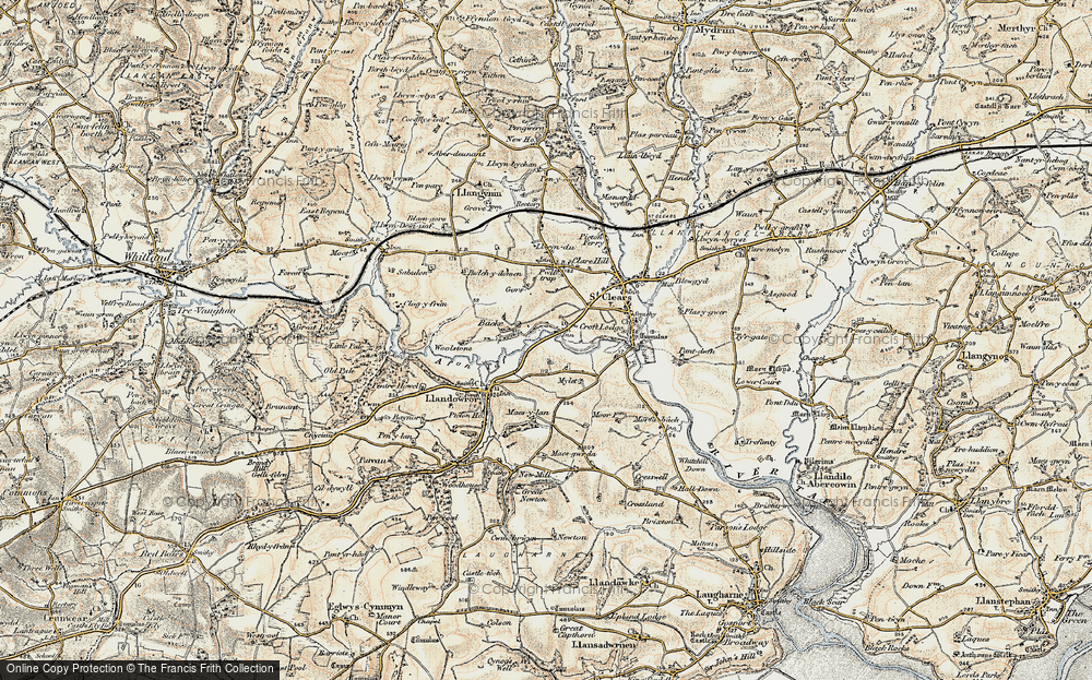 Old Map of Backe, 1901 in 1901