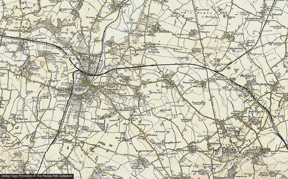 Old Map of Badsey, 1899-1901 in 1899-1901