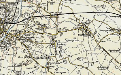 Old map of Badsey in 1899-1901