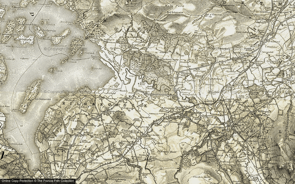 Old Map of Badshalloch, 1905-1907 in 1905-1907
