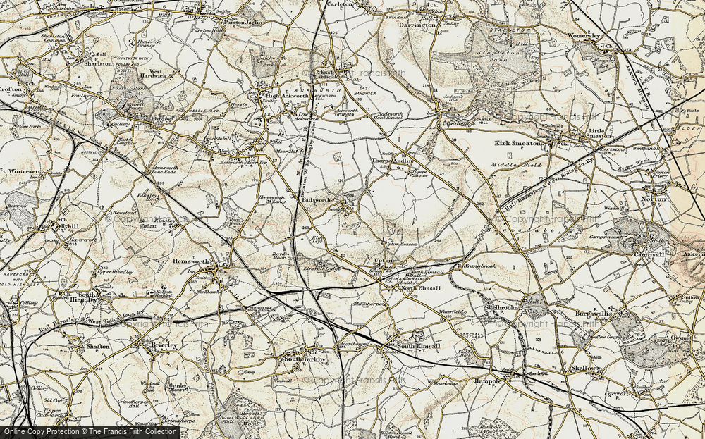 Old Map of Badsworth, 1903 in 1903