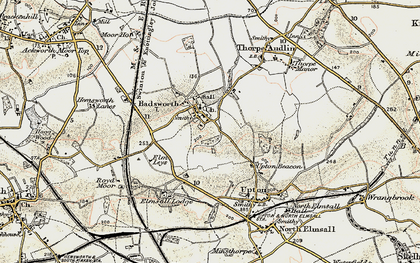 Old map of Badsworth in 1903