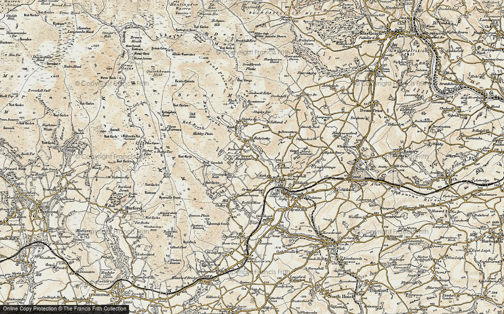 Old Map of Badworthy, 1899-1900 in 1899-1900