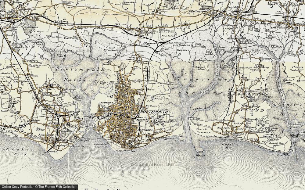 Old Map of Baffins, 1897-1899 in 1897-1899