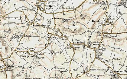 Old map of Bag Enderby in 1902-1903