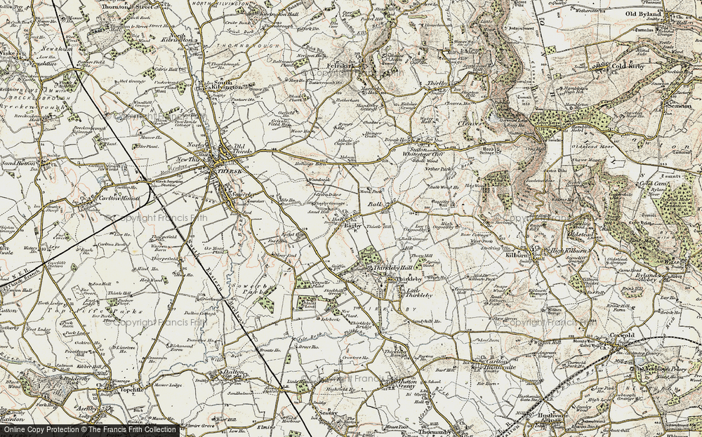 Old Map of Historic Map covering Abbot's Close in 1903-1904