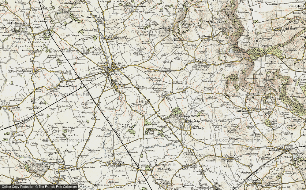 Old Map of Historic Map covering Woodcock in 1903-1904
