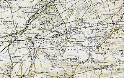Old map of Baggrow in 1901-1904