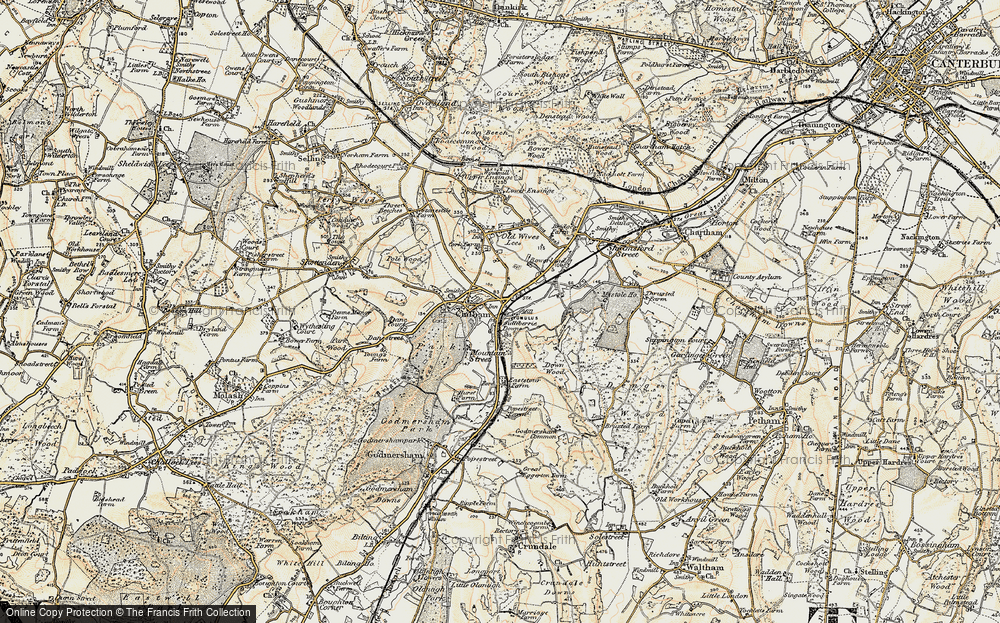 Old Map of Bagham, 1897-1898 in 1897-1898