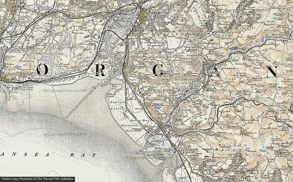 Old Map of Baglan, 1900-1901 in 1900-1901