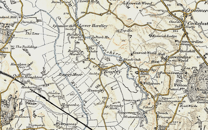 Old map of Whinnet Hill in 1902