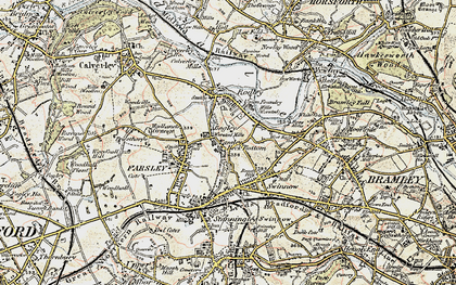 Old map of Bagley in 1903-1904