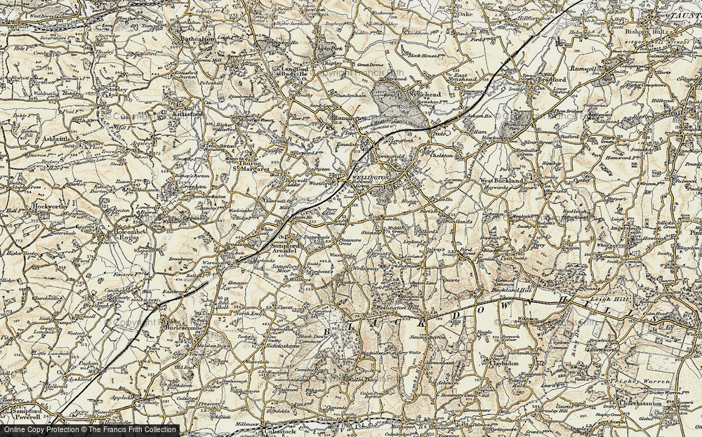 Old Map of Bagley Green, 1898-1900 in 1898-1900