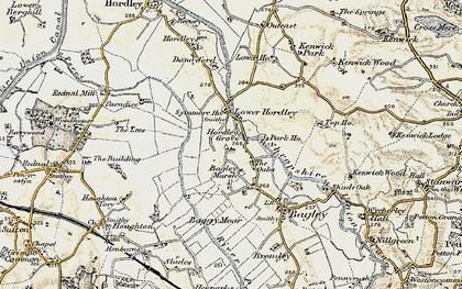 Old map of Baggy Moor in 1902