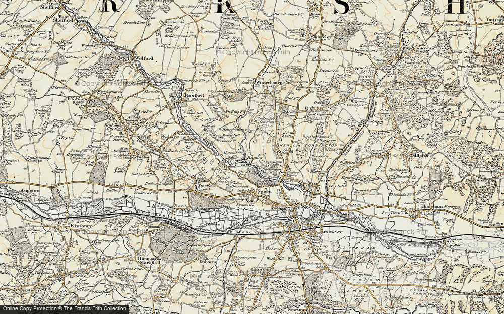 Old Map of Bagnor, 1897-1900 in 1897-1900