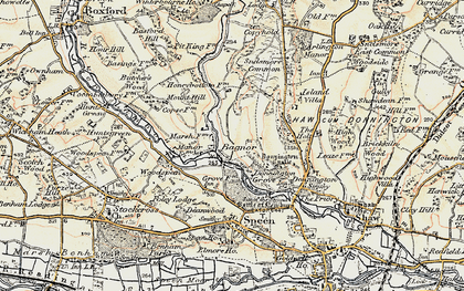 Old map of Bagnor in 1897-1900