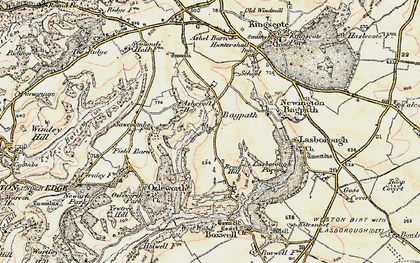 Old map of Bagpath in 1898-1900