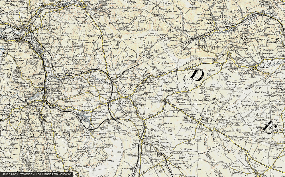 Old Map of Bagshaw, 1902-1903 in 1902-1903
