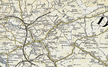 Old map of Bagshaw in 1902-1903