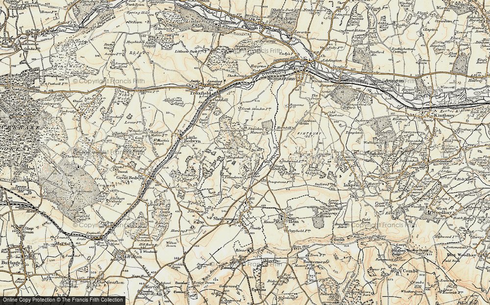 Old Map of Bagshot, 1897-1900 in 1897-1900