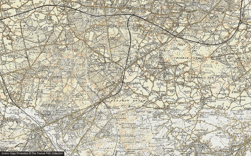 Old Map of Bagshot, 1897-1909 in 1897-1909