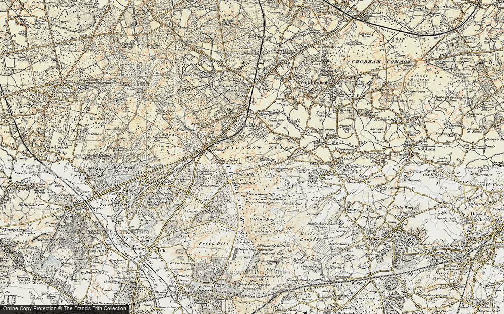 Old Map of Bagshot Heath, 1897-1909 in 1897-1909
