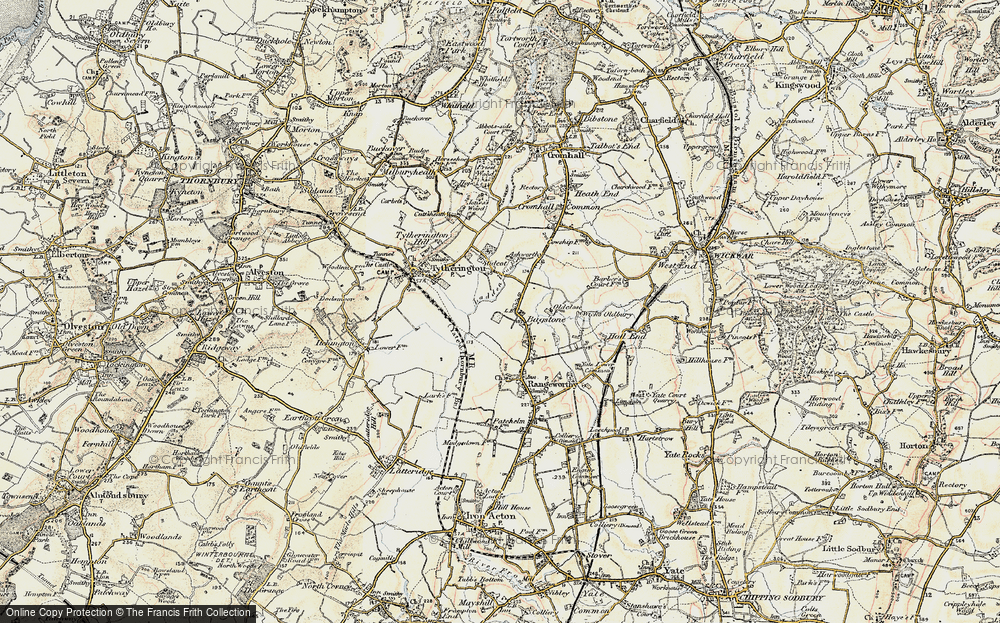 Old Map of Bagstone, 1899 in 1899