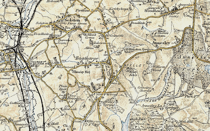 Old map of William Wood in 1902