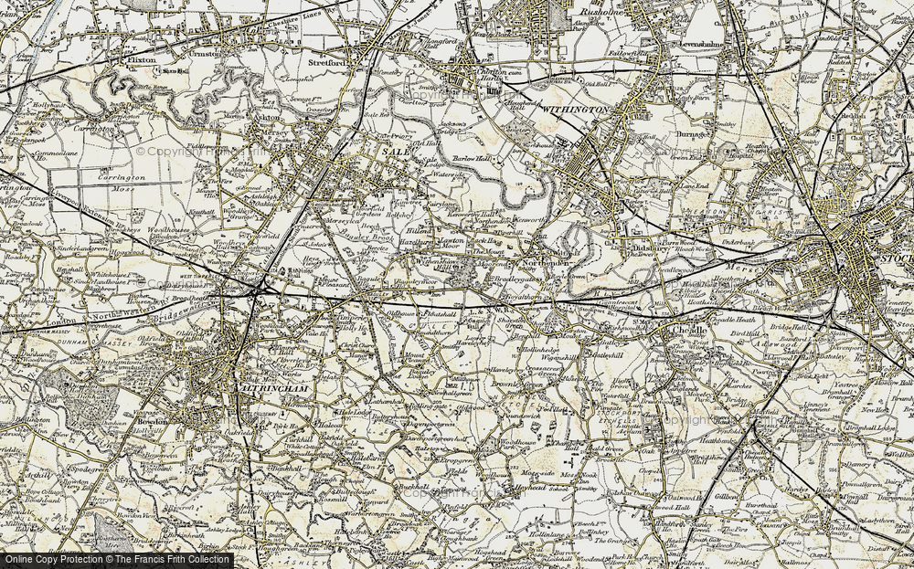 Old Map of Baguley, 1903 in 1903