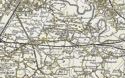 Old map of Baguley in 1903
