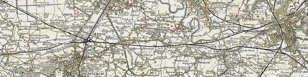 Old map of Wythenshawe Hall in 1903