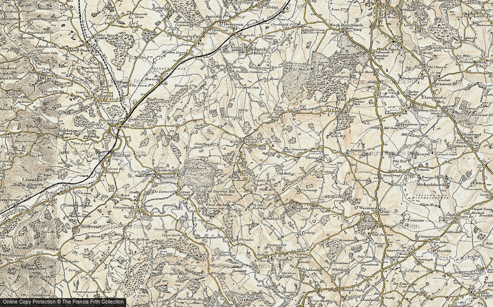 Old Map of Bagwyllydiart, 1900 in 1900