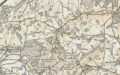Old map of Bagwyllydiart in 1900