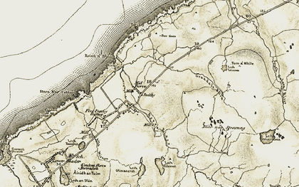Old map of Bail Àrd Bhuirgh in 1911