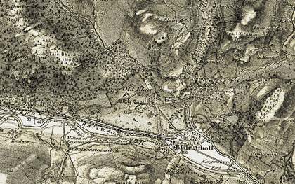 Old map of Whim Plantn in 1906-1908