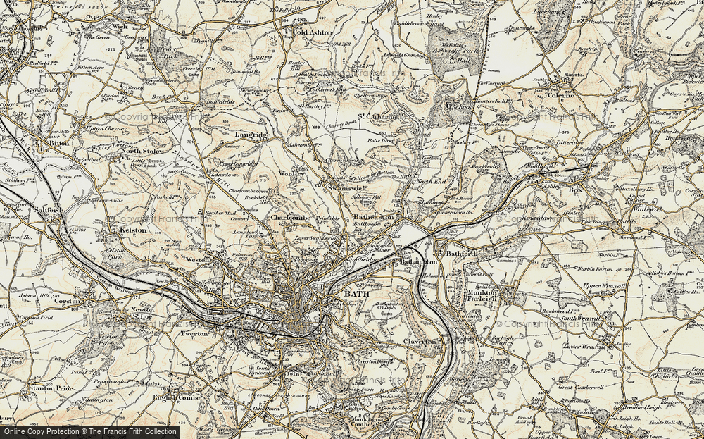 Old Map of Bailbrook, 1899 in 1899