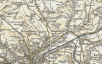 Old map of Bailbrook in 1899