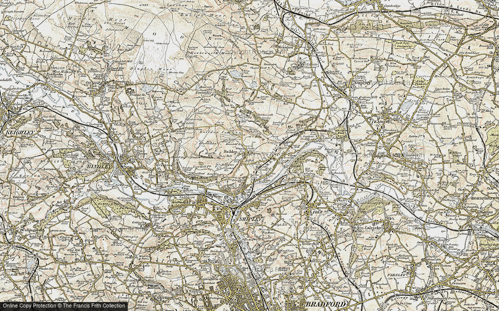 Old Map of Baildon, 1903-1904 in 1903-1904